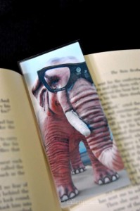 PinkElephant bookmark at fallenpeach on etsy
