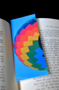 rainbow balloon bookmark by fallenpeach on etsy