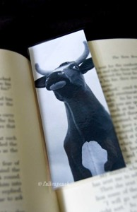 Big Cow Kitschy Bookmark by fallenpeach on Etsy
