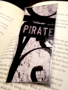 Pirate Photo Laminated Bookmark by fallenpeach on etsy
