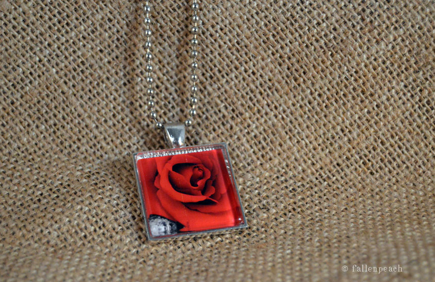 rose necklace by fallenpeach on etsy